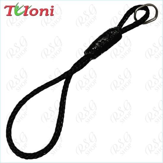 Черная нить Tuloni для крепления гимнастической ленты.