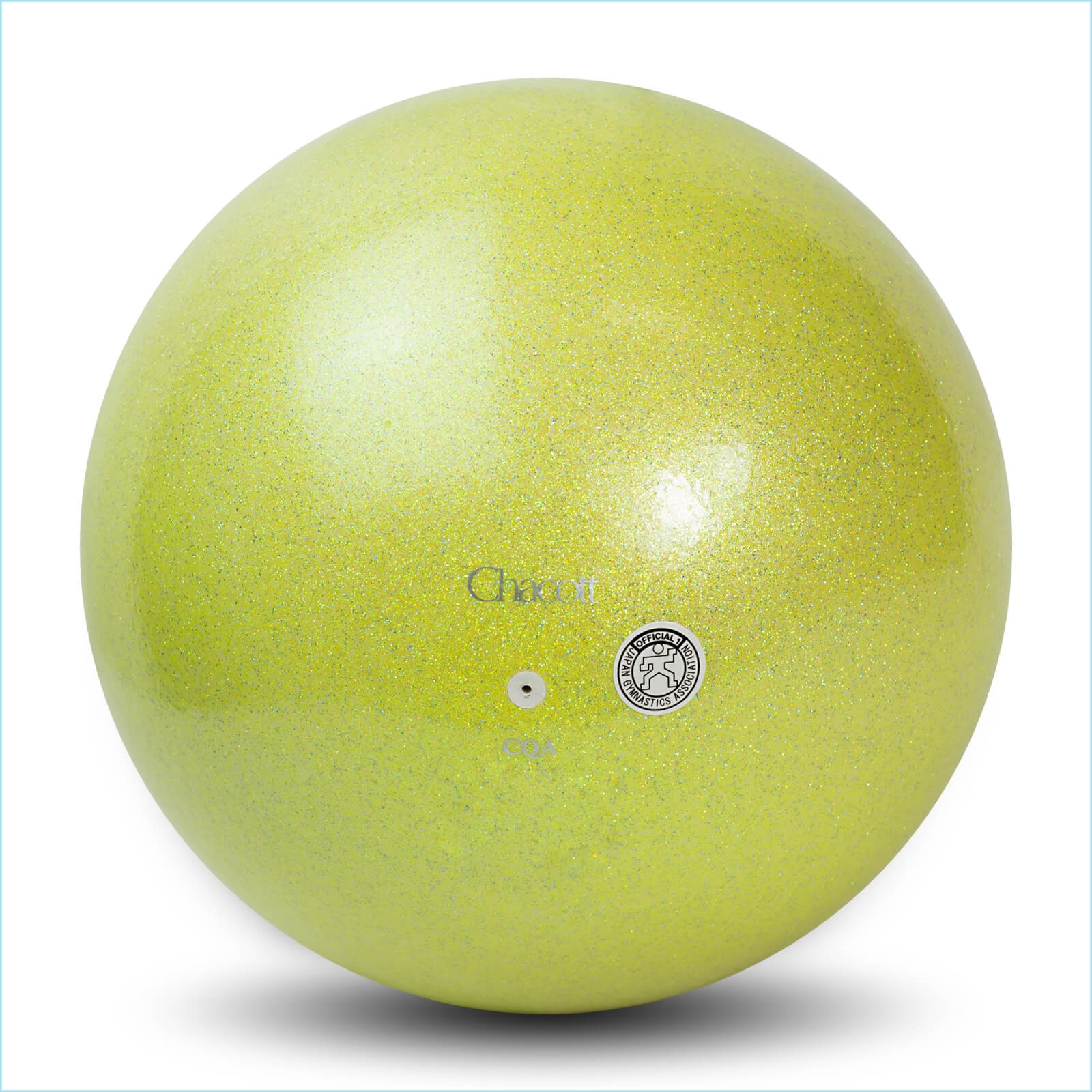 ball chacott prism 17cm lime yellow 632