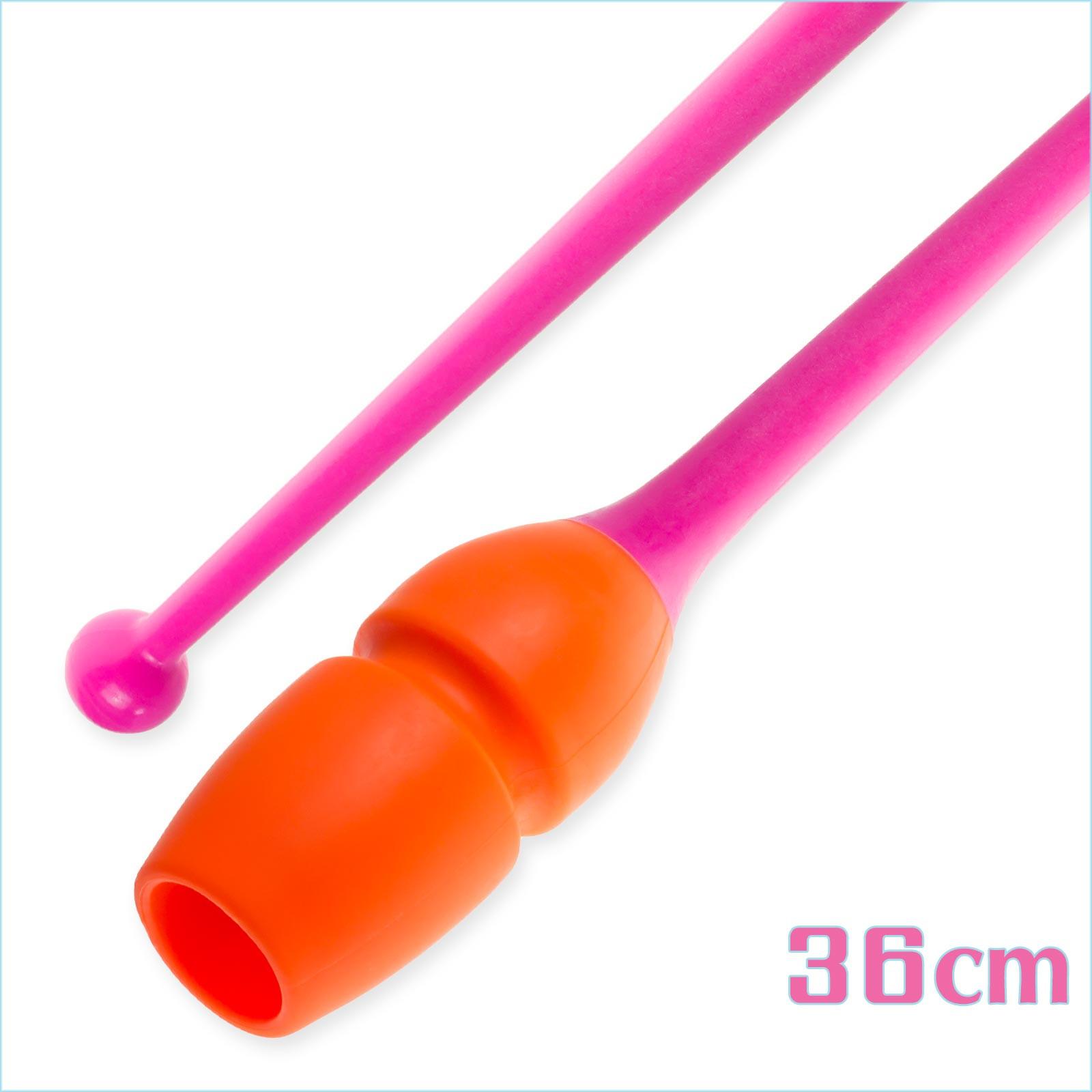 Булавы 36 cм Pastorelli Connectable цвет Оранжевый-Розовый Артикул 04233-2