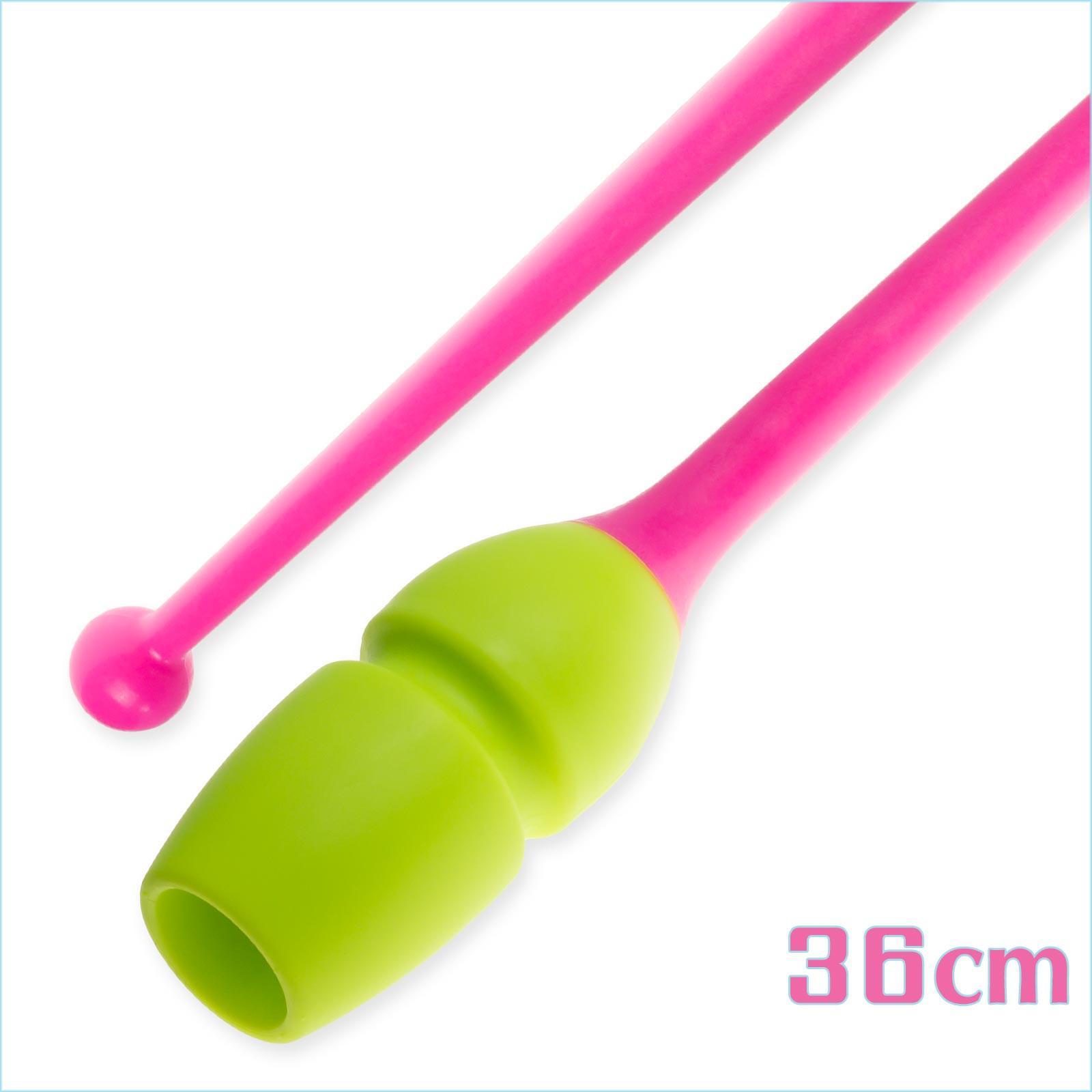 Булавы 36 cм Pastorelli Connectable цвет Лайм-Розовый Артикул 04234-3