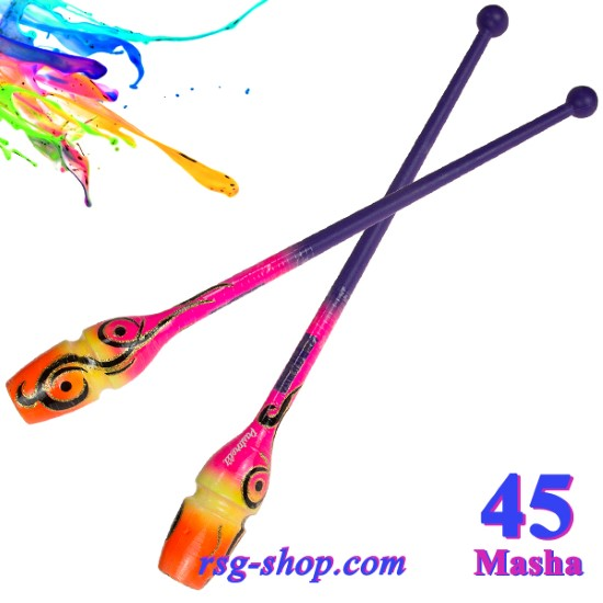 Булавы 45 см Pastorelli Harmonic цвет Фиолетовый-Розовый-Желтый Артикул 04563