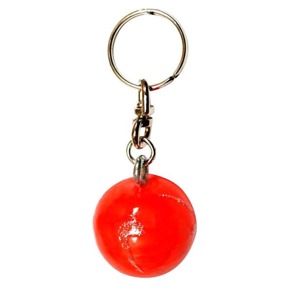 Брелок Pastorelli мини Мяч цвет Оранжевый-Серебряный