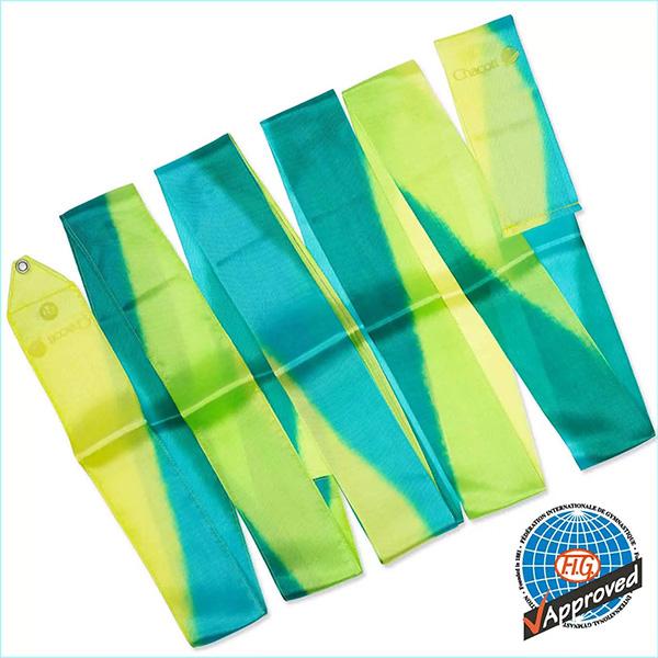 Гимнастическая лента 6 м Chacott цвет Зеленый Лист (Leaf Green) Артикул 6-233-1