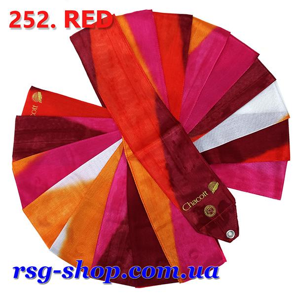 Гимнастическая лента 5м Chacott цвет Красный (Red) Артикул 5-252-2