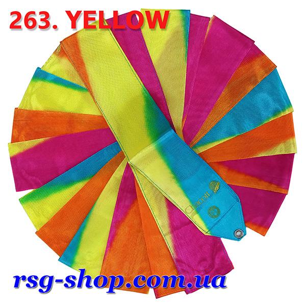 Гимнастическая лента 5 м Chacott цвет Желтый (Yellow) Артикул 5-263-1