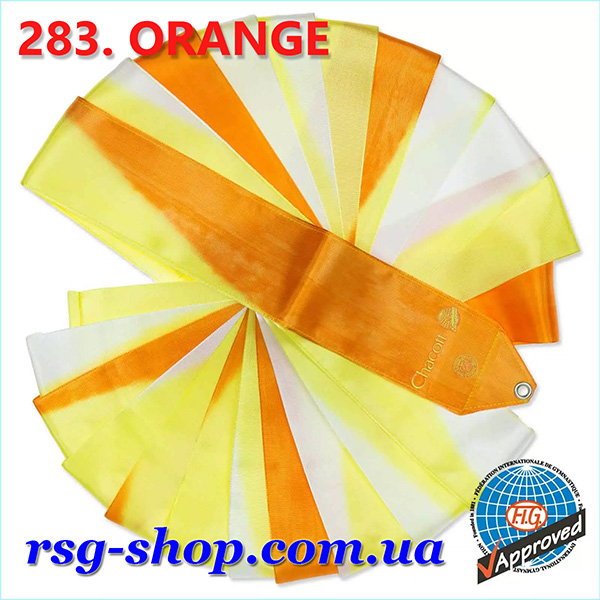 Гимнастическая лента 5м Chacott цвет Оранжевый (Orange) Артикул 5-283