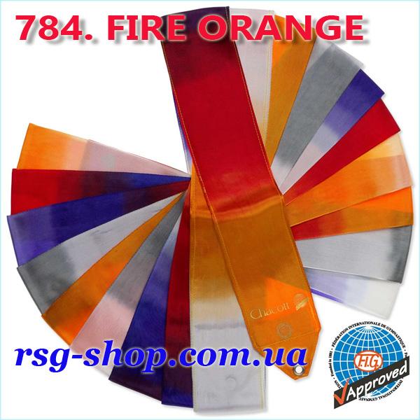 Гимнастическая лента 6 м Chacott цвет Огненно-Оранжевый (Fire Orange) 784-1