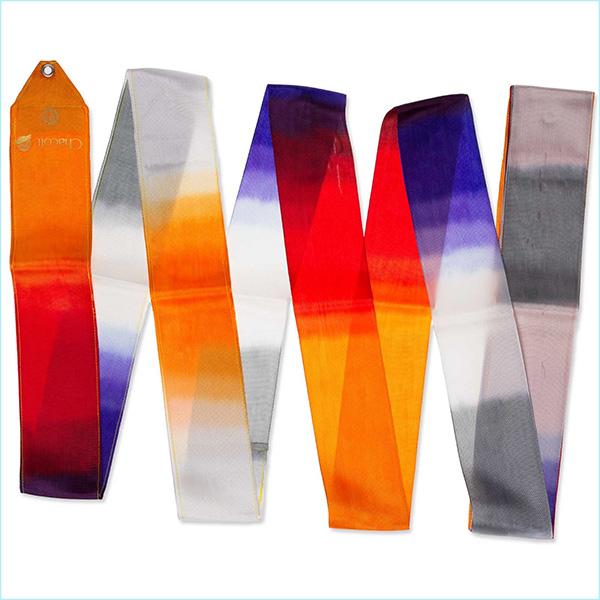 Гимнастическая лента 6 м Chacott цвет Огненно-Оранжевый (Fire Orange) 784-2