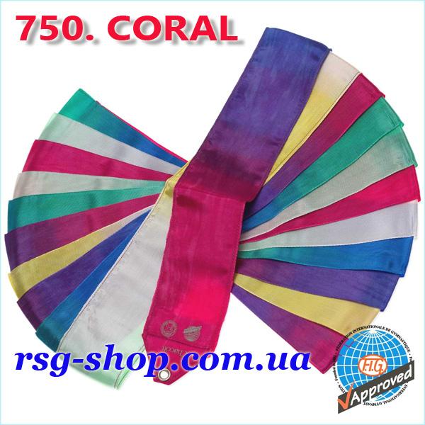 Гимнастическая лента 5 м Chacott цвет Коралловый (Coral) Артикул 5-750