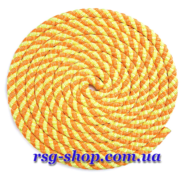Скакалка 2,5м Sasaki MJ-243 цвет Оранжевый-Желтый