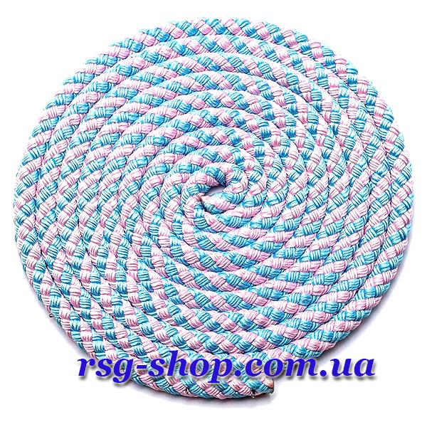 Скакалка 2,5м Sasaki MJ-243 цвет Голубой-Розовый