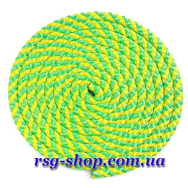 Скакалка 2,5м Sasaki MJ-243 цвет Зеленый-Желтый