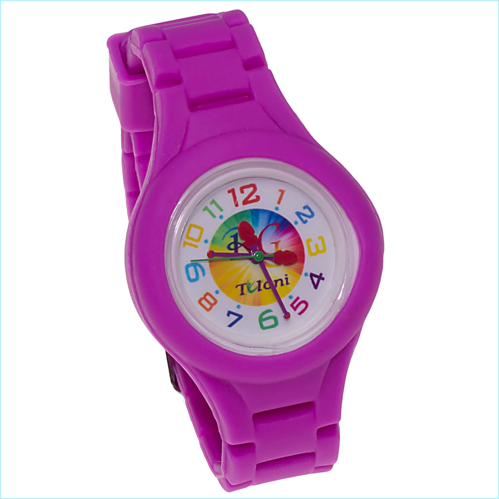 Часы Tuloni модель#3 ремешок#2 цвет Фуксия Артикул T0203-2Fu