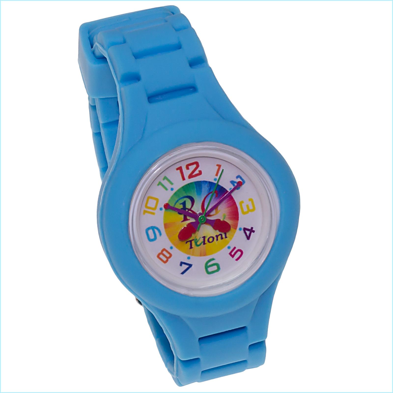 Часы Tuloni модель#3 ремешок#2 цвет Голубой Артикул T0203-2LB