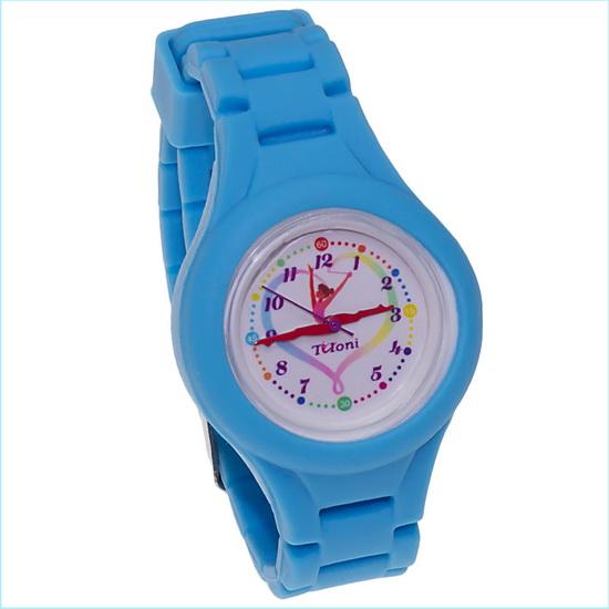 Часы Tuloni модель#4 ремешок#2 цвет Голубой Артикул T0204-2LB