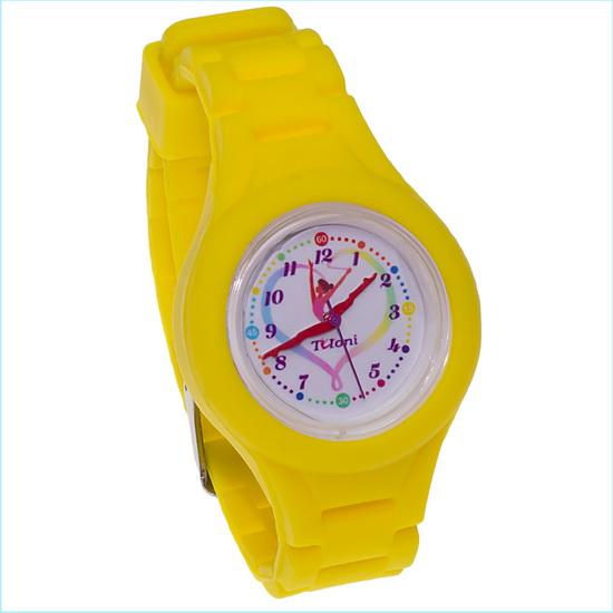 Часы Tuloni модель#4 ремешок#2 цвет Желтый Артикул T0204-2Y