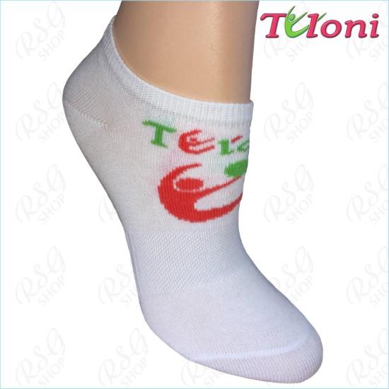 Носки Tuloni Logo Белый-Коралловый