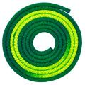 Gymnastic rope Venturelli color Dark Green-Neon Yellow Article PLDD-3118