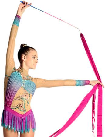 Stick for rhythmic gymnastics